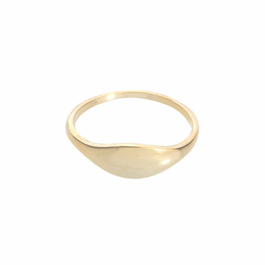 GORGEOUS TALE Zinc Alloy Gold Color Finger Ring Size 6.75 Women Vintage Jewelry Simple Round Male Ring Silver anel masculino