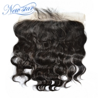 New Star Lace Frontal 13x6 Size Free Part Brazilian Body Wave Human Hair Natural Hairline With