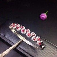 Простые Модные Малый Цепочки и ожерелья 925 Серебро Природный Рубин Изумруд красивая девушка эксклюзивные Симпатичные