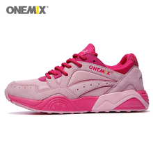 Onemix รองเท้ากีฬาสำหรับสตรีเดินกีฬา #1122 Retro
