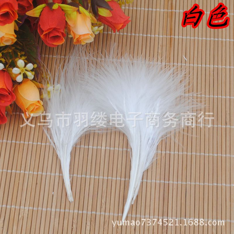 Turkey Feathers Plush Feathers Velvet Hair Ornaments Clothing Accessories Feathers Wholesale