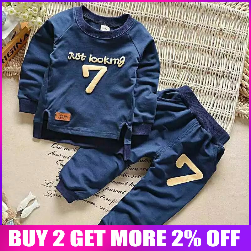 2016 boys baby clothing sets spring autumn clothes suit for boy girl 2 pieces tops and pants newborn sports clothes sweatshirt Одежда