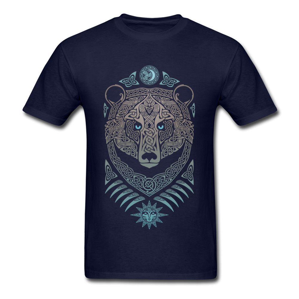 FOREST LORD Printed On Thanksgiving Day Pure Cotton Crew Neck Mens Tops & Tees Summer T-shirts 2018 Short Sleeve Top T-shirts FOREST LORD navy