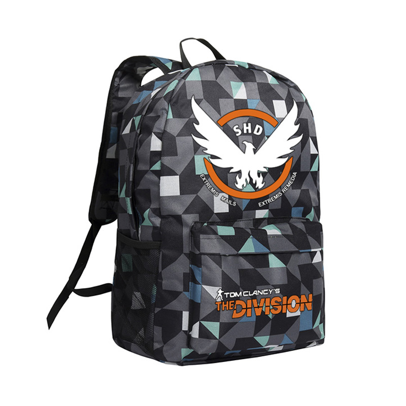 The Division Backpack for Boys Men Laptop Bags Cool PC Game Tom Clancy The Division Camouflage Backpacks