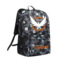 The Division Backpack for Boys Men Laptop Bags Cool PC Game Tom Clancy The Division Camouflage