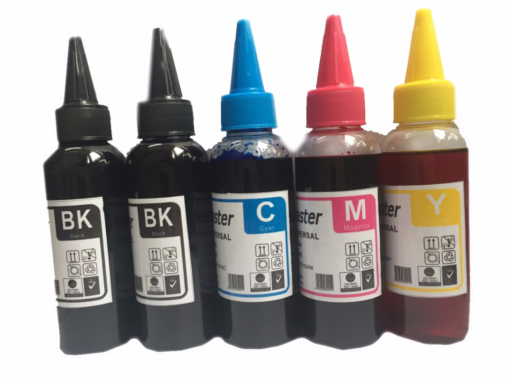 vilaxh 500ML PGI-570 CLI-571 Refill Dye Ink For Canon Pixma MG5750 MG5751 MG5752 MG5753 MG6850 MG6851 MG6852 MG6853 Printer