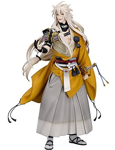 ФОТО New Nitro+ Hot Game Touken Ranbu Online Shokitsunemaru Fox Ball Kimono with Sword Cool 23cm Action Figure