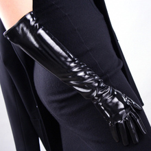 Women's Patent Leather Long Gloves