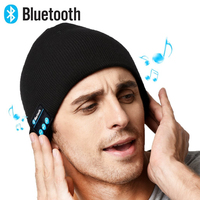 Rechargeable Unisex Wireless Beanie Hat With Control Panel Removable Stereo Headphones Unique Delightful Christmas Gift