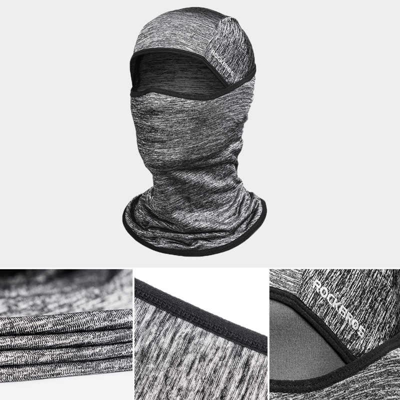 Rockbros tecido de gelo ciclismo boné da bicicleta headwear anti-uv pára-sol equitação chapelaria bicicleta bandana máscara facial esportes chapéu cachecol