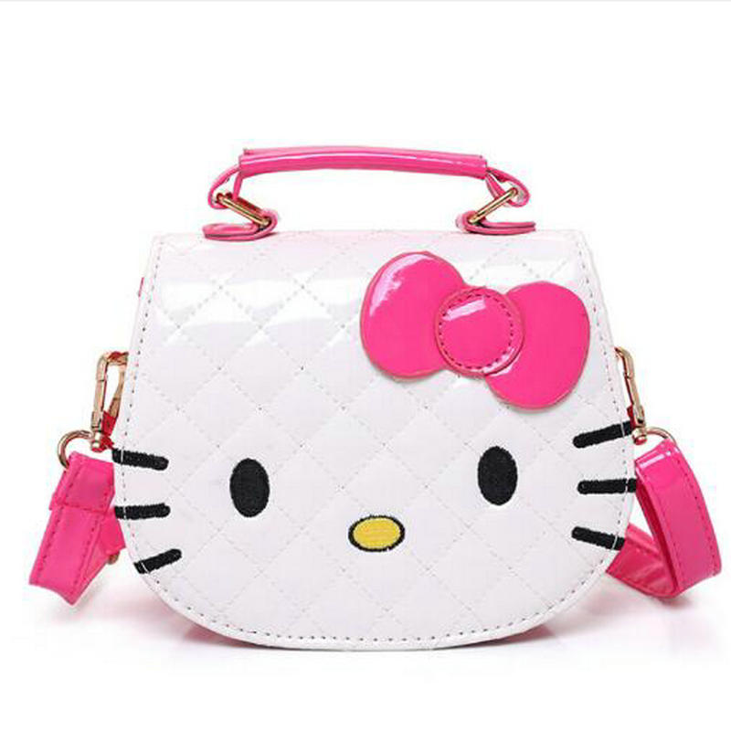 2018 New designers mini cute bag children hello kitty Bowknot handbag kids tote girls Shoulder Bag mini bag wholesale