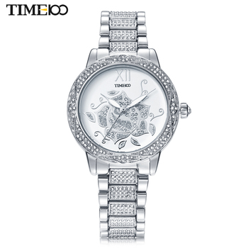 Time100 Fashion Watches Women Wrist Watches Stainless Steel Strap Diamond Quartz Watch Ladies Clock relojes mujer