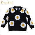 New Winter Thicken Boys Sweater Baby Girl Clothes Egg Design Child Cotton Pullover Sweater Children Casual Baby Omelette Sweater