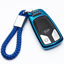 TPU Remote Car Key Case Cover For Audi A4 A5 S4 S5 B9 8W Q7 4M Q5 TT TTS RS Coupe Roadster 2017 2018 Car Shell Car-Styling цена