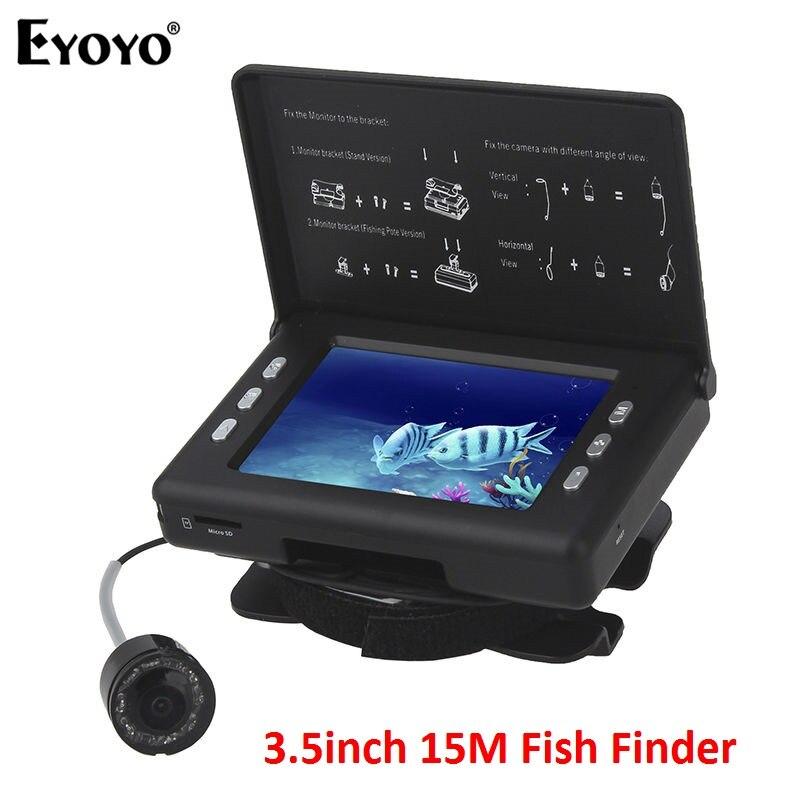 EYOYO F7 Original 15M 3.5 inch LCD Fish Finder Infrared Waterproof Fishing Fish Camera Video DVR Recorder Ship from Russia EYOYO