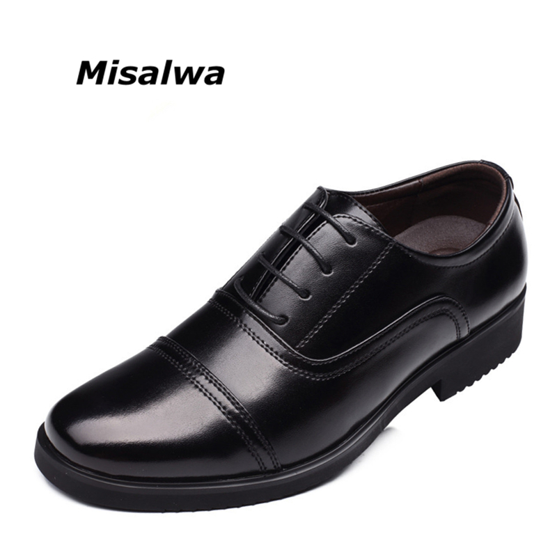 Misalwa Brand Men Business Standard Officer Men Leather Shoes Men Formal Shoes Men Oxfords Flats Free Drop Shipping summer deep v neck high waist maternity maxi dresses sleeveless draping long evening gown for pregnant women dinner slim dress