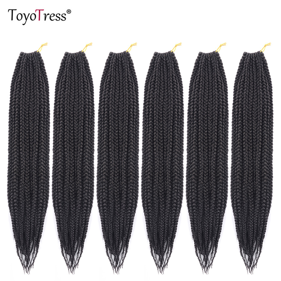 Medium Box Braid Hair Crochet Braids Hair Extensions Low Temperature Fiber Synthetic Brading Hair 20Roots/Pack Toyotress Hair plus size short overalls