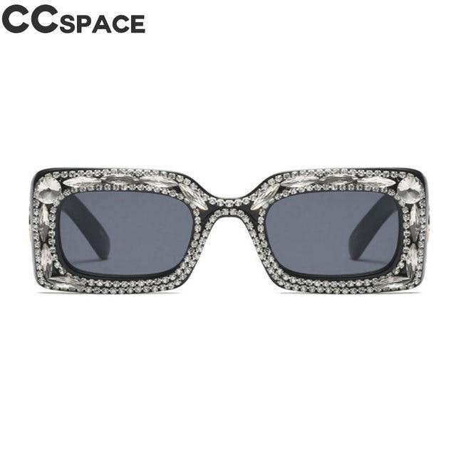 54d1acf11b7 45572 Luxury Diamond Sunglasses Trendy Shiny Rhinestone Women Shades CCSPACE  Vintage Brand Glasses Designer Fashion Oculos