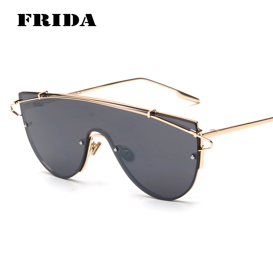 acfa281d35 ③Frida sin montura Gafas de sol mujeres oversized gafas marca moda .
