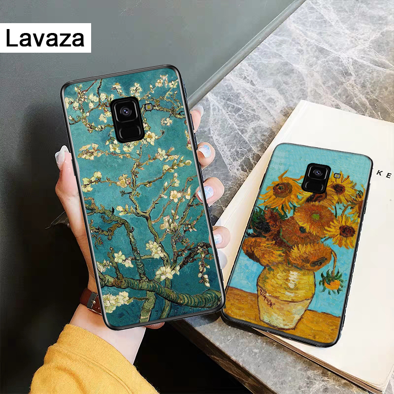 Lavaza Great Art Painting Van Gogh Silicone Case for Samsung A3 A5 2016 2017 A6 Plus 2018 A7 A8 A9 A10 A30 A40 A50 A70 J6 in Fitted Cases from Cellphones Telecommunications