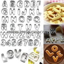 Free Shipping 37 Pcs Alphabet Letter Number Cake Cookie Decorating Cutter  Mold Set