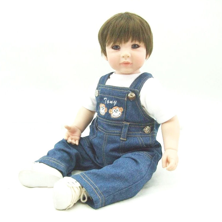 Pursue 24/ 60 cm Handmade Cotton Body Real Reborn Baby Boy Dolls for Sale Lifelike Toddler Boy Doll Toys for Kids Christmas Toy handmade chinese ancient doll tang beauty princess pingyang 1 6 bjd dolls 12 jointed doll toy for girl christmas gift brinquedo