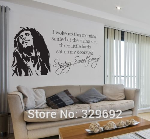 wholesale bob marley quotes vinyl wall decals poster wall