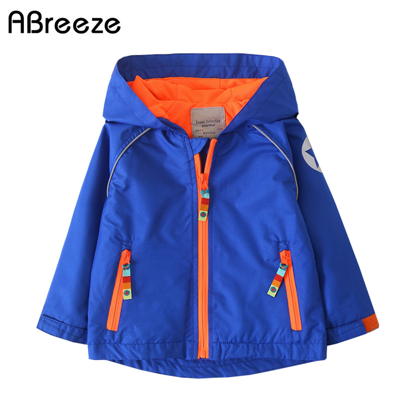 Outdoor jackets for 2-10 years children boys 2018 spring autumn new Design Reflect star waterproof coats jacket kids цена 2017