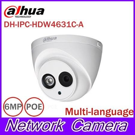 DaHua 6MP IP Caméra IPC-HDW4631C-A POE Caméra Réseau Avec Built-In Micro modèle de Mise À Niveau de 4MP Caméra IPC-HDW4431C-A