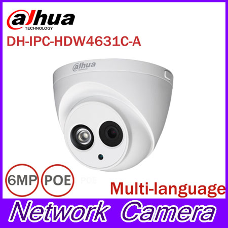 DaHua 6MP IP Camera IPC-HDW4631C-A POE Network Camera With Built-in Micro Upgrade model of 4MP Camera IPC-HDW4431C-A dahua 6mp ip camera ipc hdw4631c a poe network camera with built in micro upgrade model of 4mp camera ipc hdw4431c a