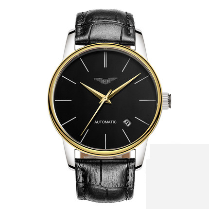 Mechanical Automatic Mens Watches Top Brand Luxury GUANQIN Waterproof Leather Watchbands Ultra-thin Fashion Relogio Masculino | Fotoflaco.net