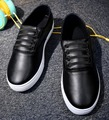 [C]2017 New Man women's Plus Size Loafers Black White Color Driver Shoes For Man Loafers flat-Pu Lace-UP Shoes Man  .DC-209
