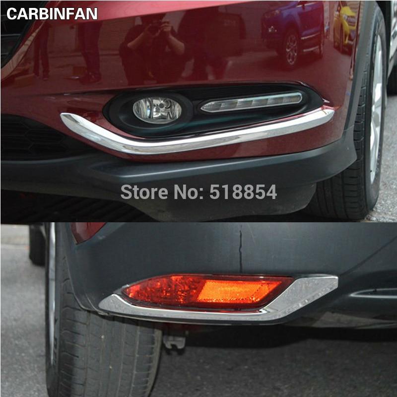 Accessories For Honda HR-V VEZEL 2014-2017 Chrome Rear Fog Light Lamp Cover Trim