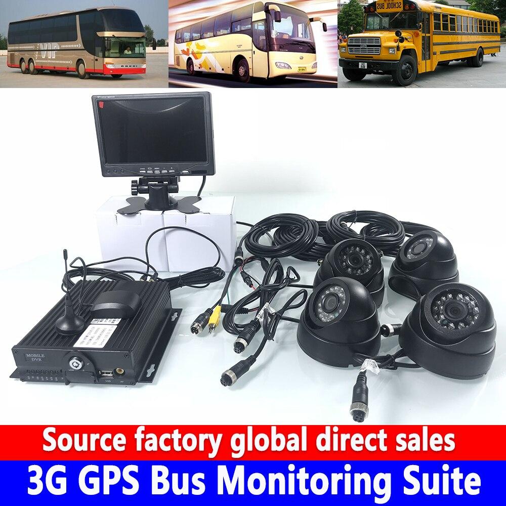 Cartão sd coaxial ahd720p monitoramento remoto hd 7 polegada display 3g gps ônibus kit de monitoramento colheitadeira/reboque/caminhão de saneamento