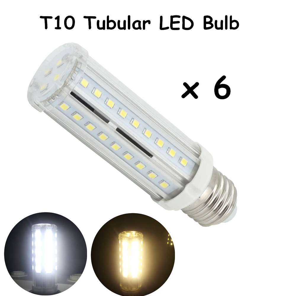 T10 Tubular LED Bulbs with Medium E26 Bulb Base 60W ...