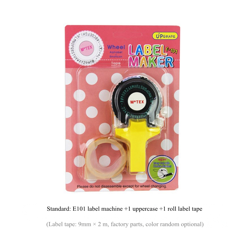 Manual DIY Mini Embossing Label Maker Print Tag Technology W// Roll Black Tape US