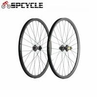 Spcycle 27.5er Clincher Carbon MTB Wheels 25/27/30/35mm 650B XC AM/DH Carbon Mountain Bike Wheelset 135*9mm Standard QR Wheels