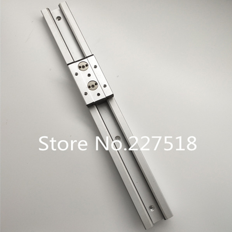 1pcs Double axis roller linear guide SGR20 L600mm +1pcs SGB20-4UU block multi axis core linear Motion slide rail auminum guide