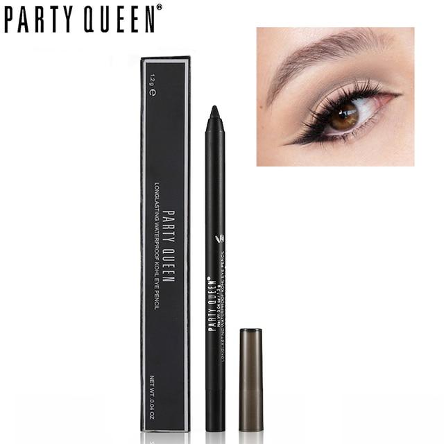 Вечерние Queen гель карандаш для глаз длительный Водонепроницаемый Матовый Черный Eye Pencil KOHL макияж Гладкая шокирующие не размазывается подводка для глаз