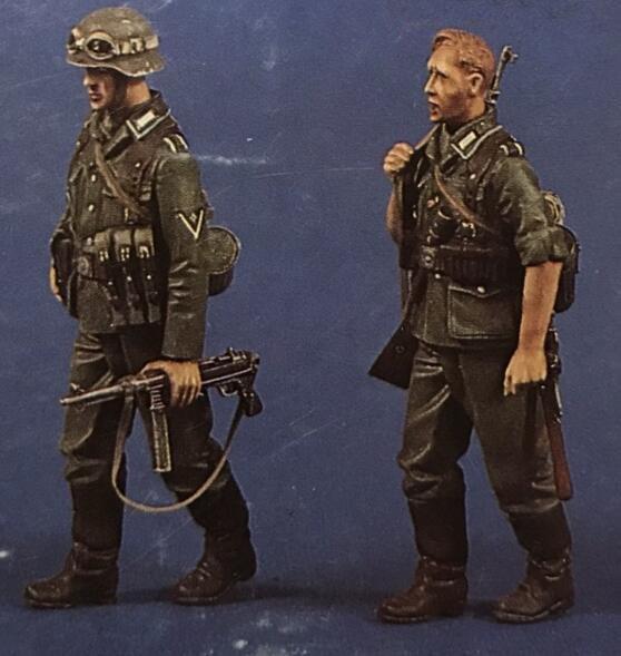 1/35 Resin Figure German Infantry 2pcs Model Kits