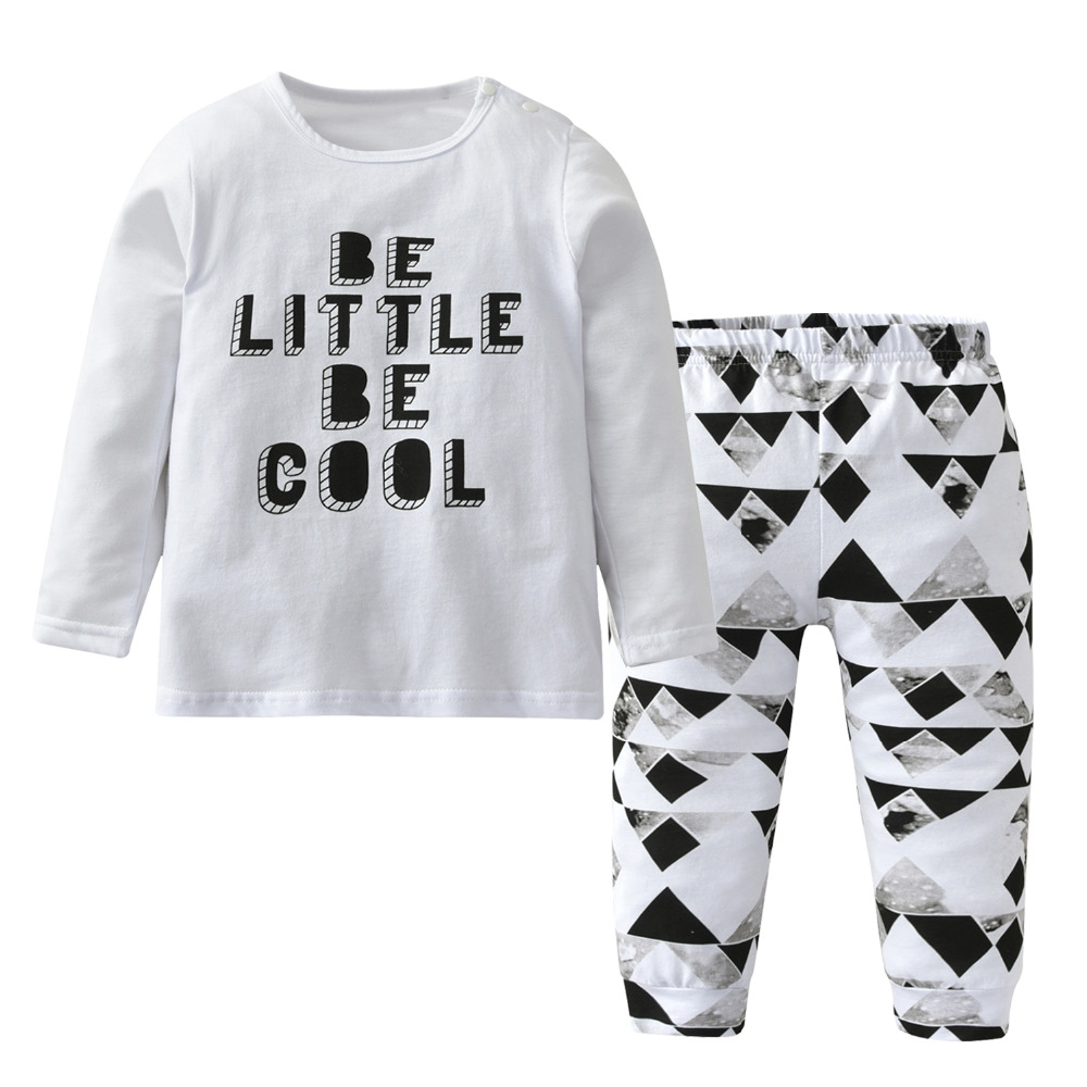 2pcs Baby Boy Clothing Sets Newborn Infant Clothes Casual Long Black Oud 2 Pcs Sleeve Fashion Letter Cool Tops Pants Kids Toddler Outfits In From Mother