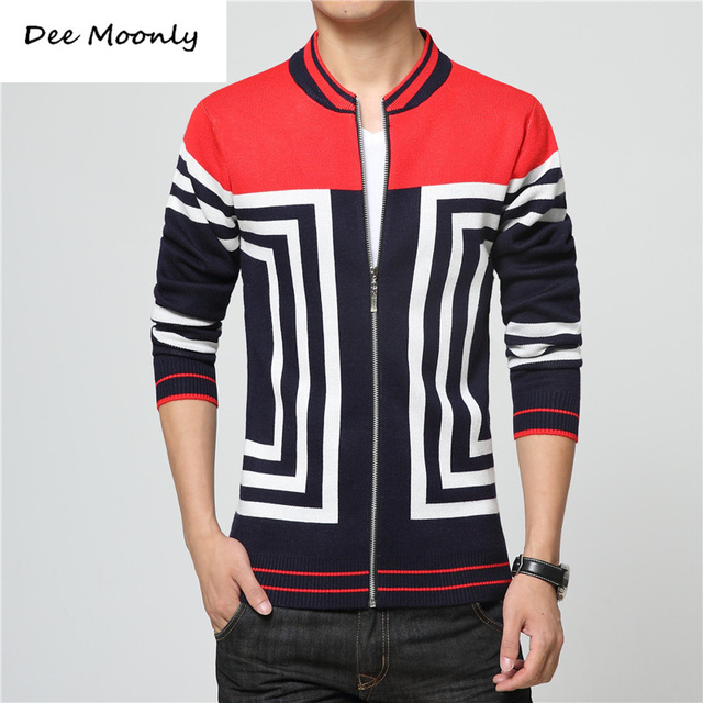 2c3866a9baf DEE MOONLY Fashion Luxury 2017 New Spring And Fall Sweaters Men Winter  Cardigan zipper Man Casual Clothes Pattern Knitwear-in Sweaters from Men's  ...