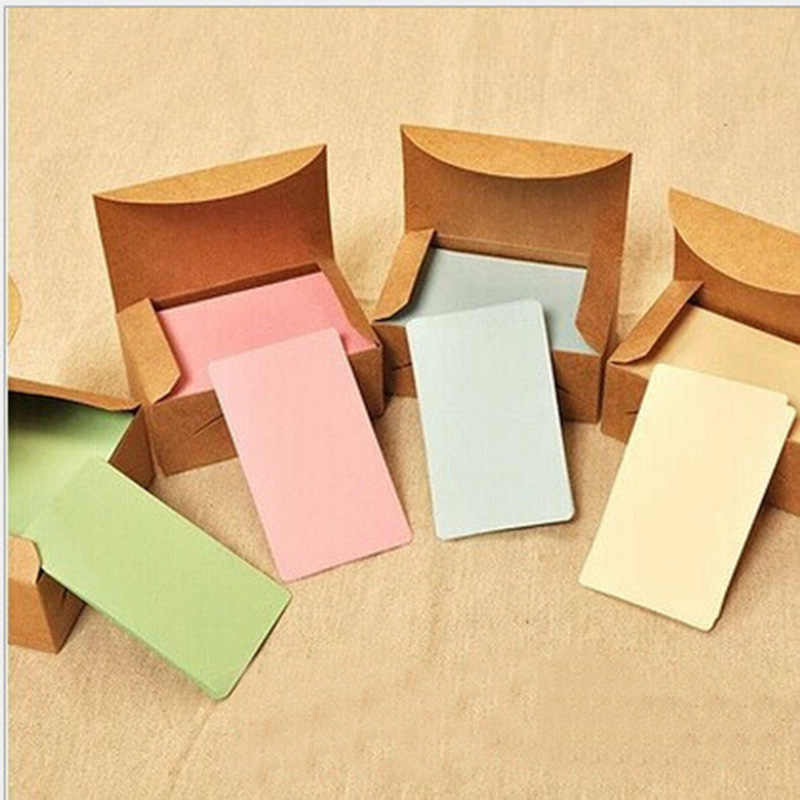 100 pcs DIY Coloré Carte Bloc-Notes Vierge Artisanat Papier Message L'école Home Office Papeterie Fournisseur Étude Lable Signet Bloc-Notes