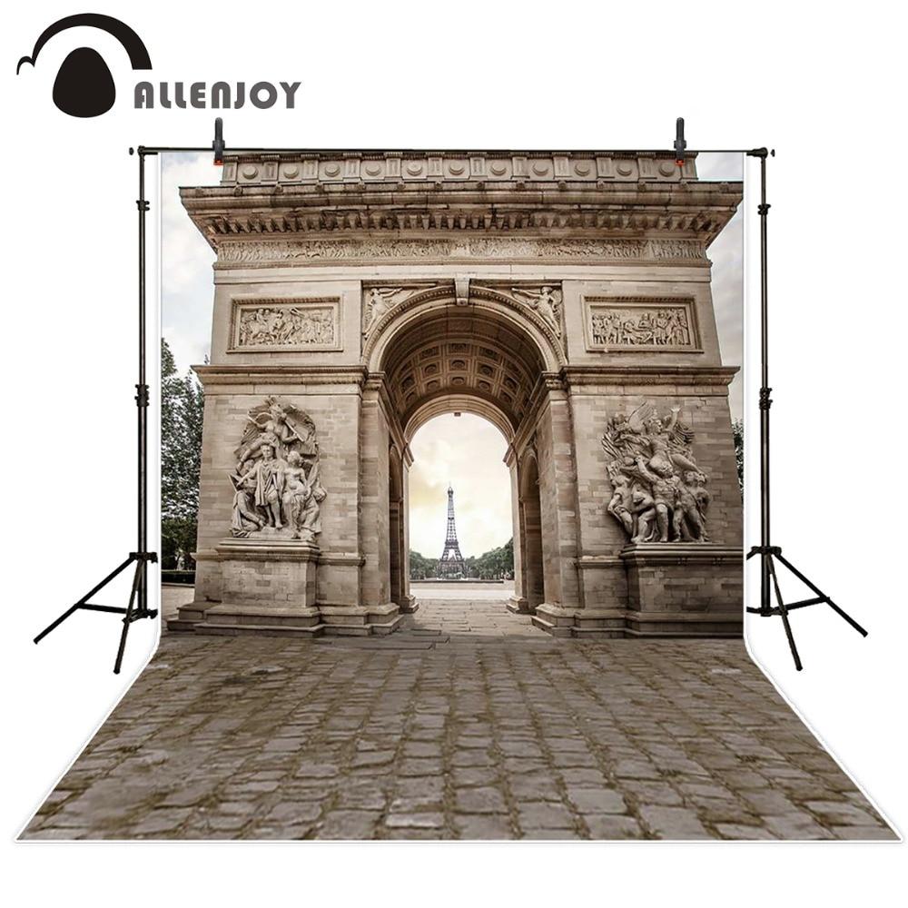 Allenjoy 10ftx6.5ft svatební fotografie kulisy Arc de Triomphe Eiffelova věž v Paříži romantické pozadí photo studio
