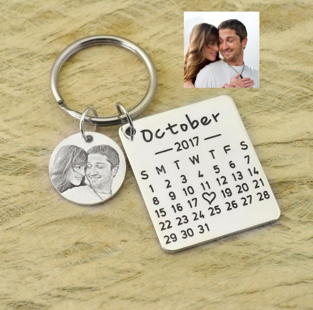 Personalized Calendar Keychains Wedding Favors Keychains Bridesmaids Gift Wedding Gift Ideas Save the Date