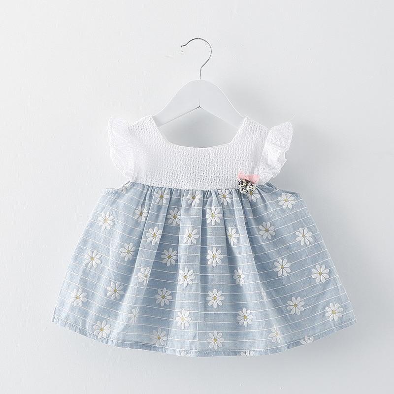 ba15671d9ff6 Newborn Baby Girl Cotton Dresses 2017 Summer Toddler Floral Print ...
