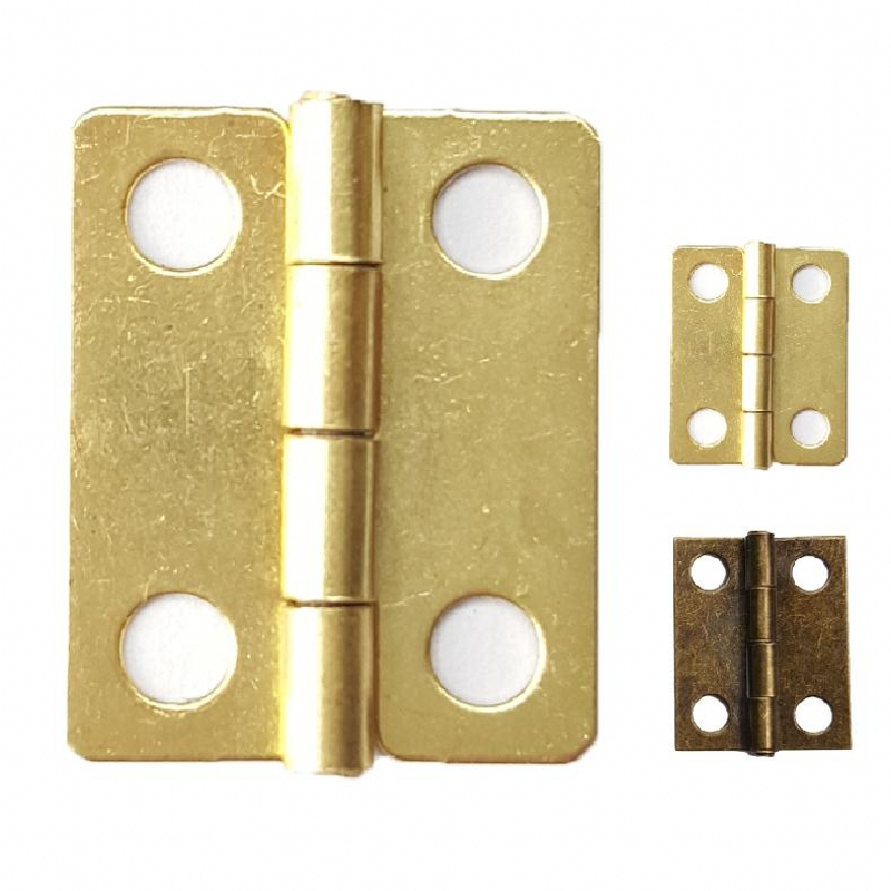 1000pcs lot 18 15mm Small Brass Hinges for Wholesale Wooden Plated Box Craft Gift Box Decoration