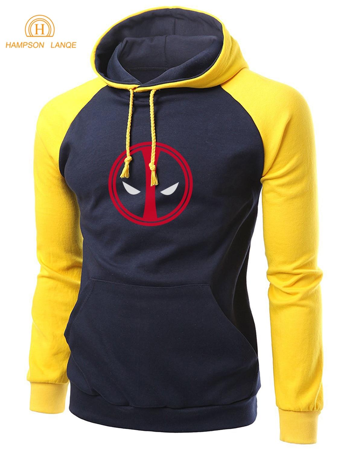 Супермен Deadpool повседневные толстовки Для мужчин 2017 Лидер продаж осень-зима флис Высокое качество Модный свитшот Для мужчин реглан с капюшо...