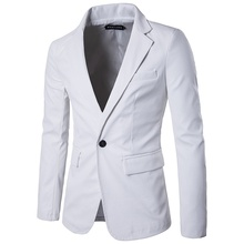 2018 New Men Fashion High Quality PU Leather Suit