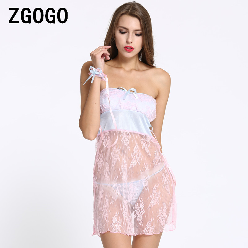 Sexy Lingerie Women Dress Sleepwear Nightdress Sexy -2296